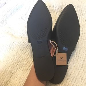 American Eagle Outfitters Shoes - Faux leather Black Mule AEO